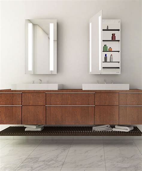 ascension mirrored cabinet electric mirror