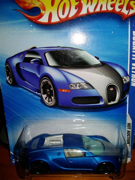 bugatti veyron hot wheels escala  edicion  azul