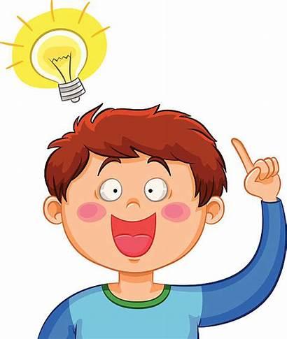 Idea Clipart Thinking Clip Kid Bulb Vector
