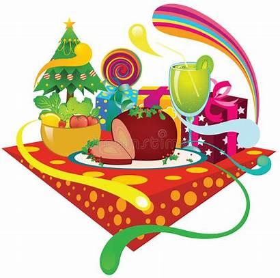 Dinner Christmas Ham Clipart Feast Clip Cartoon