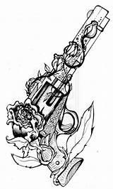 Dessin Tatouage Pistolet Tattoo Gun Garter Tattoos Belt Drawings Blanc Noir Kunst Biff Pirate sketch template