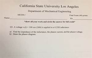 Solved: California State University Los Angeles Department ...