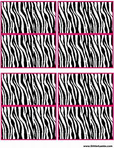 free pink zebra birthday party food cards printables With free zebra label templates