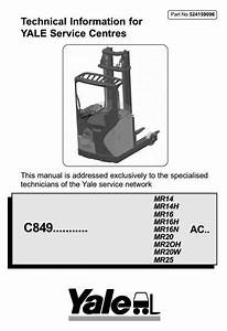 Original Illustrated Factory Workshop Service Manual For Yale Reach Truck  Original Factory
