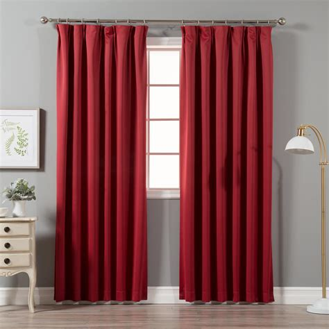 Pinch Pleated Drapes by Best Home Fashion Cardinal 96 In L Blackout Pinch
