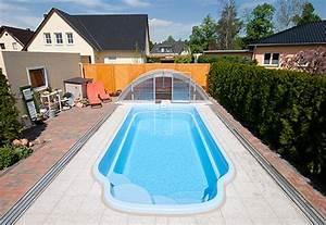 Pool Mit überdachung : gfk becken polyester becken vom pool fachmann ~ Michelbontemps.com Haus und Dekorationen