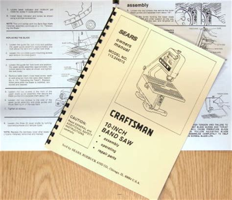 craftsman    band  owners instructions