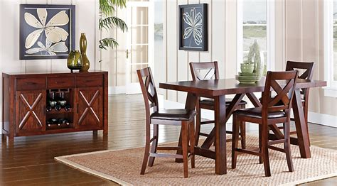 30554 mango dining set wonderful mango burnished walnut 5 pc counter height dining room