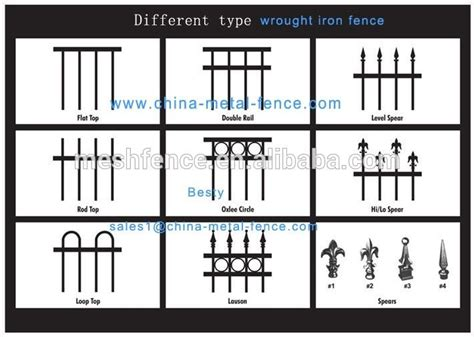 Fixable & Anti-rust Aluminum Cast Iron Fence Parts