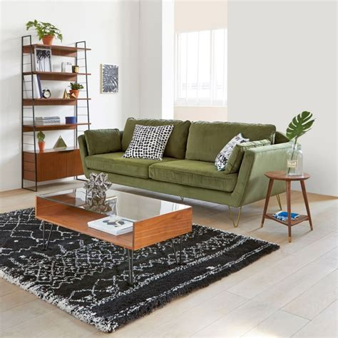 canapé velours vert un canapé 4 possibilités joli place
