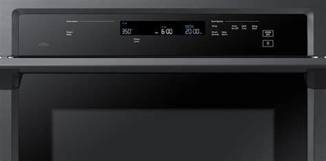Samsung Black Stainless Single Wall Oven   NV51K6650SG