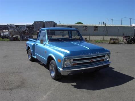 1968 68 chevy chevrolet c10 truck box stepside 350 4 speed 1 2 ton for sale