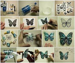 diy butterflies made from plastic bottles home design With what kind of paint to use on kitchen cabinets for 3d butterfly wall art diy