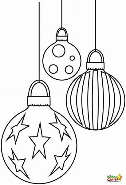Christmas Coloring Pages Baubles Printable Sheets Adults