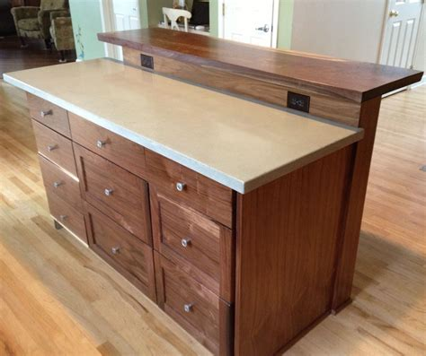 kitchen island with bar top custom kitchen island with slab bar top by saw tooth designs llc custommade com