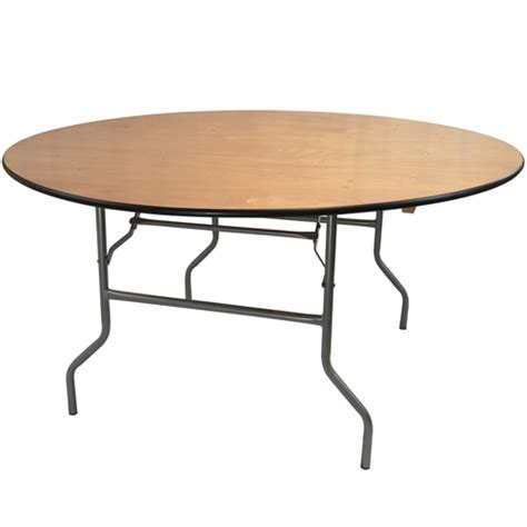 6 foot wood table 6 ft round wood folding banquet table folding tables