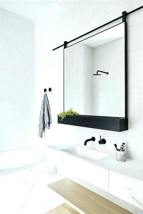 Bathroom Mirror Decorating Ideas by Metal Framed Mirrors Bathroom Black Metal Wall Mirror Thin