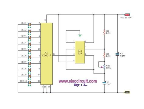led chaser circuit with pcb layout pcb components led projects led circuit