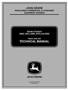 John Deere X475 X485 X465 X575 X585 Lawn And Garden