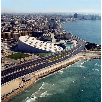 Bibliotheca Alexandrina Egypt Aerial view - 69 :: World