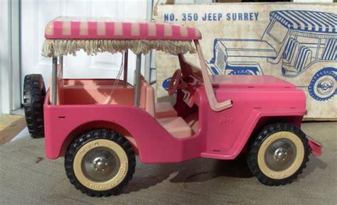 pink toy jeep 35 tonka jeep surrey top pink mib rare 1963 64 lot 35