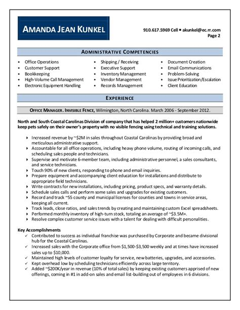 amanda kunkel office manager resume