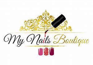 Premade beauty nails logo Custom logo design nails logo