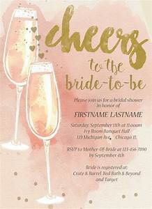 champagne bridal shower invitation pink blue mint gold With wedding shower invitations ideas