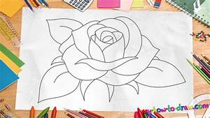 How To Draw A Flower Step By Step For Kids - Pencil Art ...