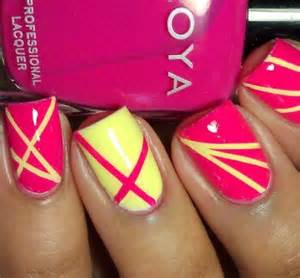 Nail art using scotch tape
