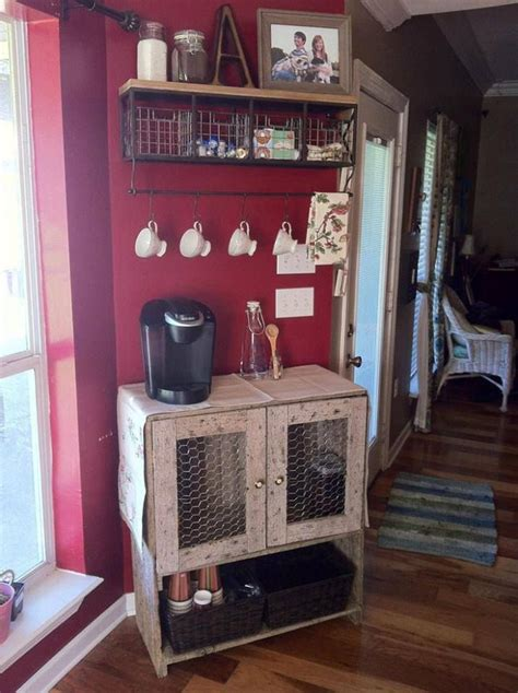 cute coffee station   home pinterest coffee bar  kitchens