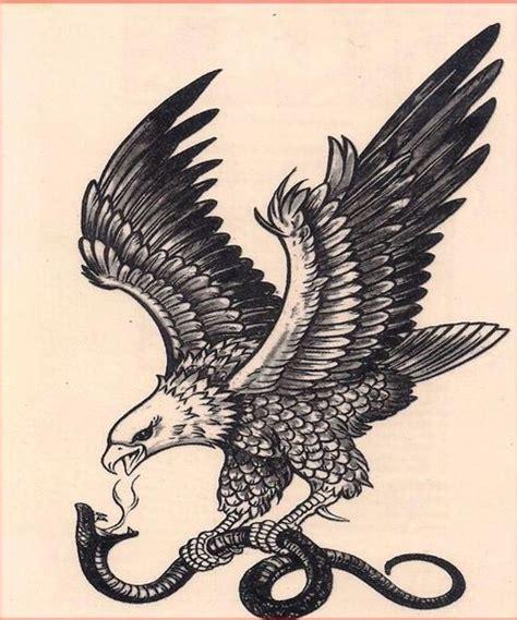 vintage eagle  snake tattoos eagle tattoos snake tattoo traditional eagle tattoo
