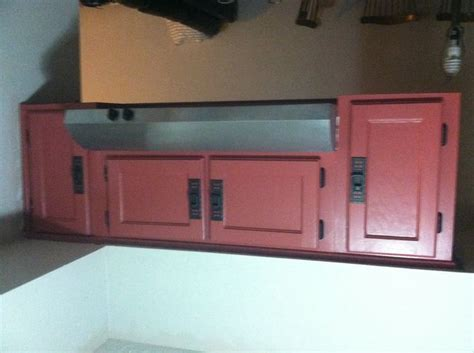 refinish particle board cabinets  steps