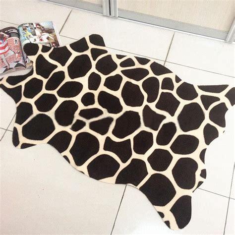 Faux Zebra Cowhide Rug by Aliexpress Buy The New Zebra Leopard Giraffe Tiger