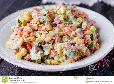 olivier cuisine olivier salad food stock photo image 46666541