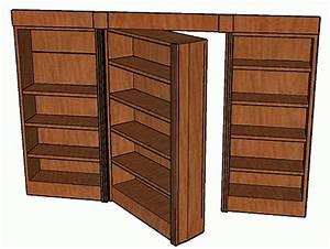 Build Wooden Bookcase Hidden Door Plans Plans Download
