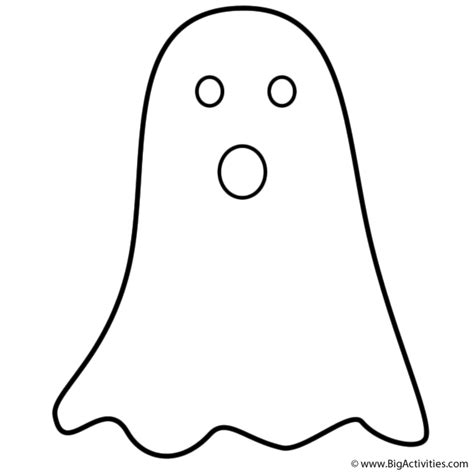 simple ghost coloring page halloween