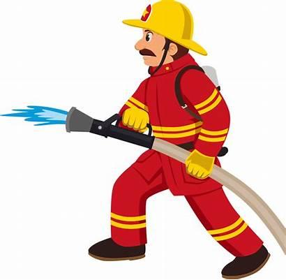 Clipart Fireman Indian Worker Cartoon Transparent Firefighter