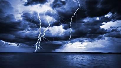 Lightning Storm Sea Ocean Wallpapers Desktop Thunder