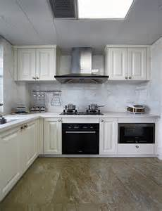 L-shaped Kitchen Designs White Cabinets