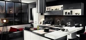 Cuisine Blanc Et Noir : cuisine urbaine une d co fa on loft en noir et blanc ~ Voncanada.com Idées de Décoration