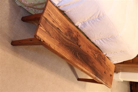 wormy chestnut bench reclaimed wood furniture