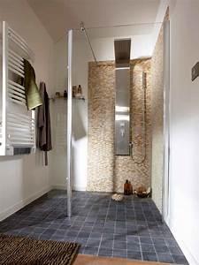 salle de bain contemporaine douche italienne With modele de salle de bain avec douche a l italienne