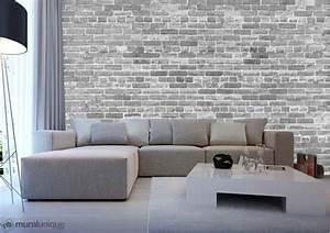 Mur Brique Salon : pas juste un autre mur de brique noir et blanc 12 39 x 8 ~ Zukunftsfamilie.com Idées de Décoration