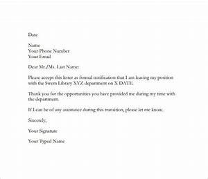 Resignation Letter Templates 16 Free Sample Example Resignation Email Sample For Giving A Two Week Notice 9 Resignation Email Sample Letter Template Word Resignation Letter Format Perfect 10 Example Letter Of
