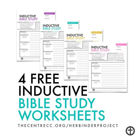 4 Free Inductive Bible Study Worksheets  Let's Inspire One Another  Pinterest Inductive