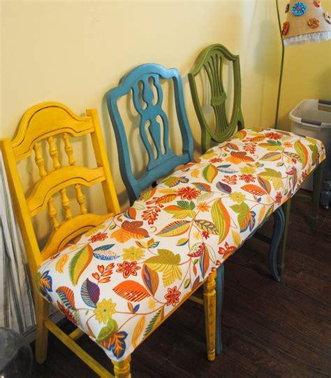 une et trois chaises la photo du jour la banquette de chaises déconome