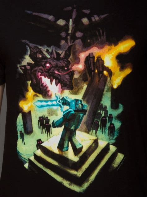 camiseta minecraft ender dragon discoazulcom