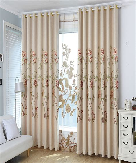 european american style cotton linen curtains finished