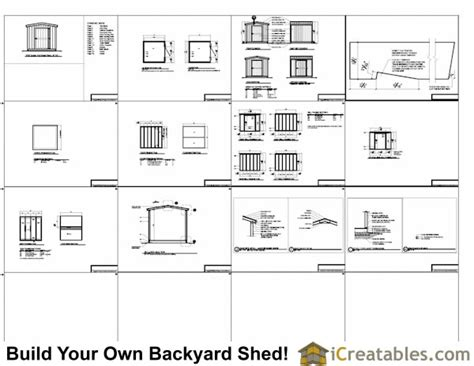 Shed Floor Plans 8x8 by 8x8 Backyard Shed Plans Icreatables